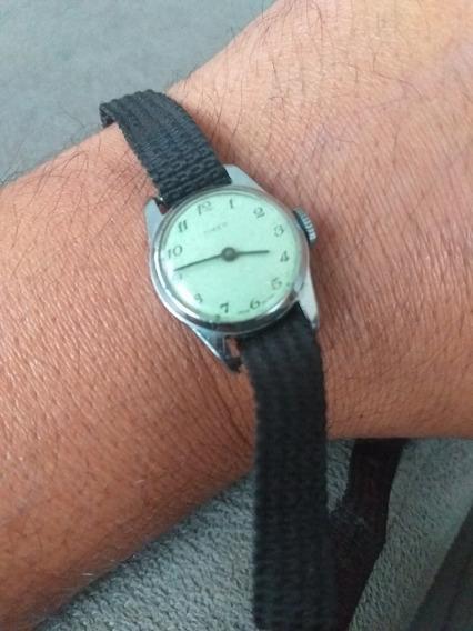 Relógio Timex De Corda Funcionando Raríssimo