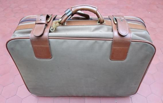 Valija De Viaje Primicia Vintage Marron 65x55x18 No Envio