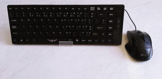 Teclado + Mouse + Mousepad + Caixa De Som + Brinde