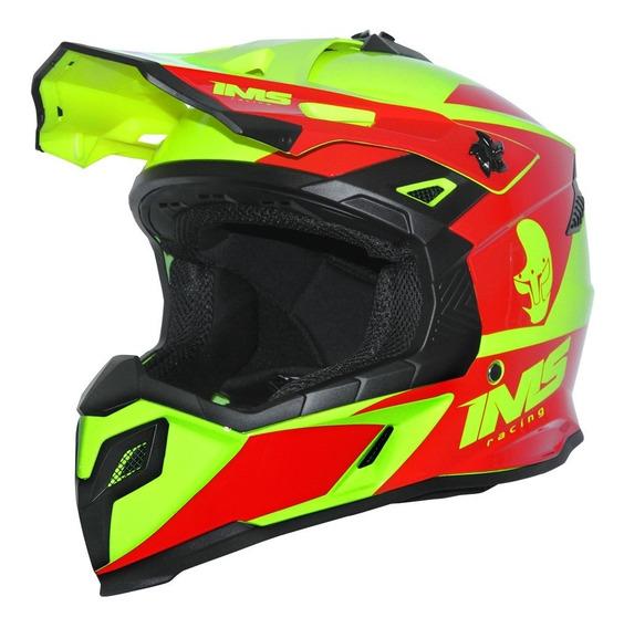 Capacete Ims Sprint Ver/fluor Modelo 2020 Motocross Trilha