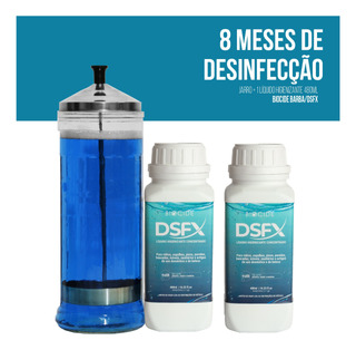 Kit 8 Meses | Jarro 1,2 Litro + 2 Biocide Barba/dsfx 480 Ml