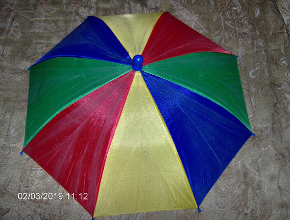 Paraguas Gorra Colores Bandera Para Agua Sol Reunion Cola