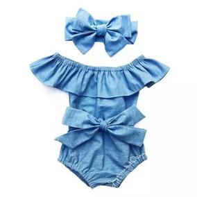 Conjunto Infantil Body + Faixa Bebê Menina Pc 05