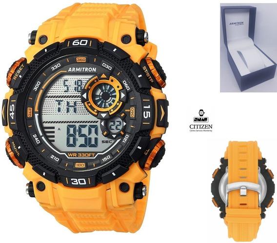 Reloj Armitron 40/8397ylw Digital Cronografo Correa Hombre *watchsalas*