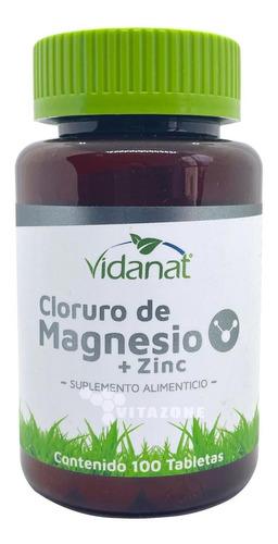 Imagen 1 de 5 de Cloruro De Magnesio 100 Cápsulas 500 Mg Vidanat