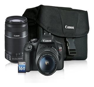 Cámara Profesional - Canon T7 - 2 Lentes + Mochila + Sd
