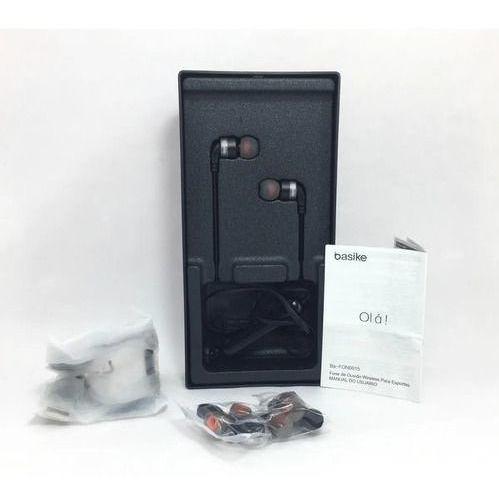 Fone De Ouvido Bluetooth, Esportivo Basike Fon-0015 O Melhor