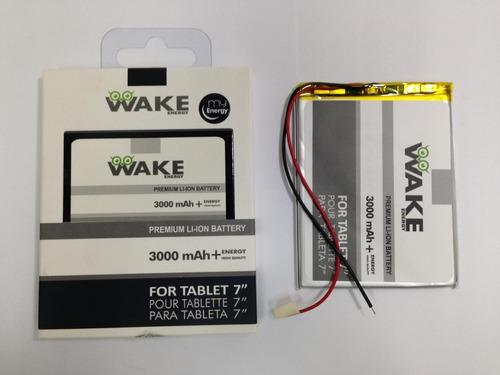 Imagen 1 de 5 de Bateria Tablet Wake 3.7v 3000mah 9x7x3.5cm Kingpc8 (tienda)