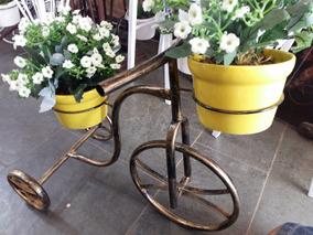 Bicicleta Decorativa Flor Jardim Com Vasos Decoração De Casa