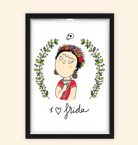 Quadro Caixa 23x33cm Frida Love