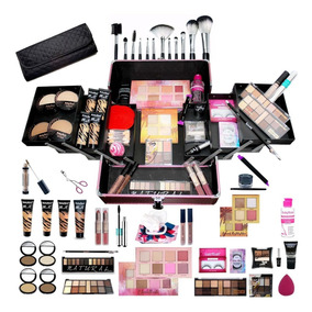 Maleta Profissional De Maquiagem Ruby Rose 4 Bases + Brindes