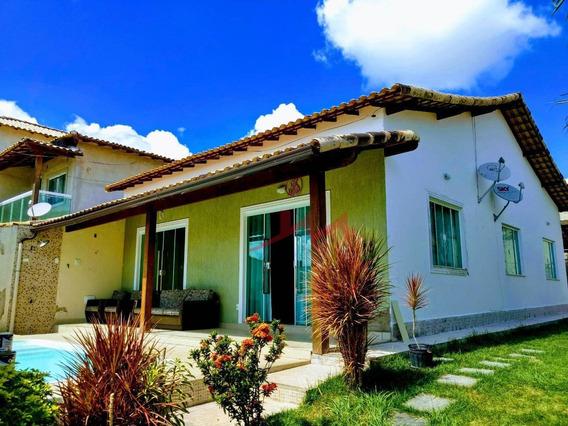 Casa Com 3 Quartos À Venda, 148 M² Por R$ 480.000 - Centro (manilha) - Itaboraí/rj - Ca0065
