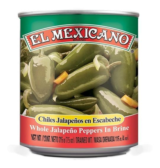 Chiles Jalapeños Enteros El Mexicano 215 Grs