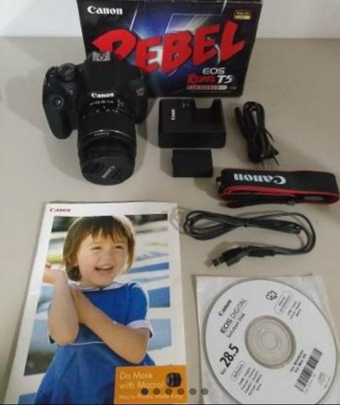 Câmera Canon Rebel T5 Semi Nova + Lente 18x55