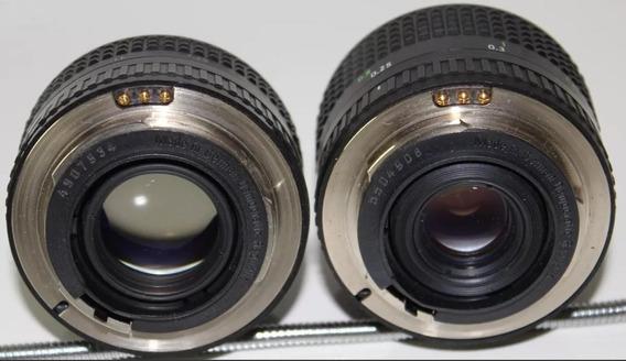 Lente 28mm 2.8 E 50mm 1.8 E Camera Praktica Bc1 Zerada.