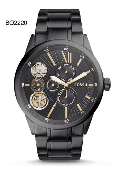 Relógio Pulso Fossil Aço Preto Mecânico Analógico/quartzo