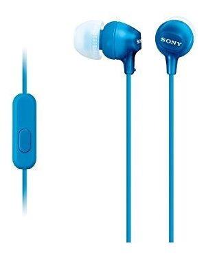 Imagen 1 de 1 de Sony Sellado Oido Interno Para Coche Mdr-ex15ap / Li Azul