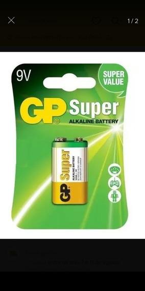Pilhas Gp Super 10 Unid Alcalina 9v