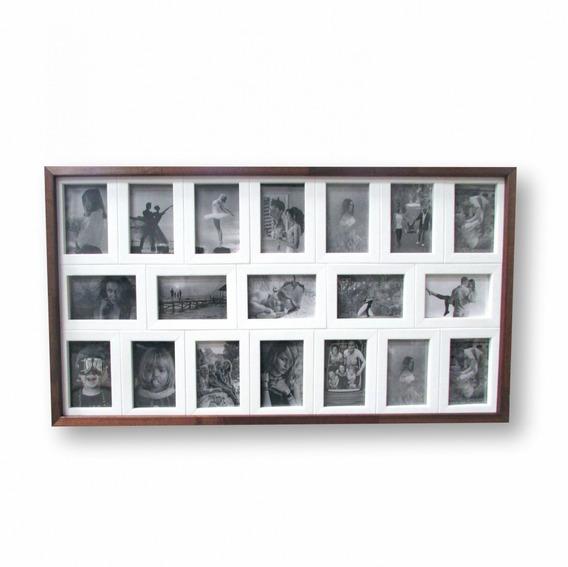 Quadro Painel Para 19 Fotos Rústico 91x50cm - Frete Grátis
