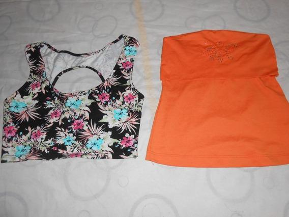 Son 2 Musculosas Jersey Naranja Y Otra Muy Bonitas!!