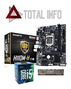 Kit 7ª Geração - I5 7400 + Mb H110m-h Ddr4 + 8gb Ddr4