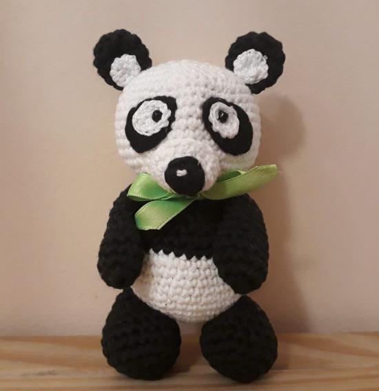 Osita panda realizada por www.ilui.es con hilo de alpaca y lana ... | 568x550