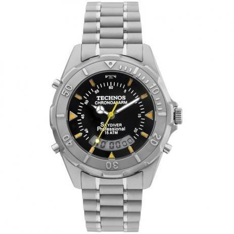 Relógio Technos Masculino Prata Skydiver T20562/1p Médio
