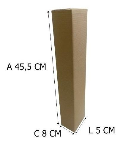 25 Caixas De Papelão 5x8x45,5 T2, Tubo, Envios