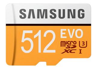 Cartão De Memória Samsung 512 Gb Evo Micro Sd Pronta Entrega