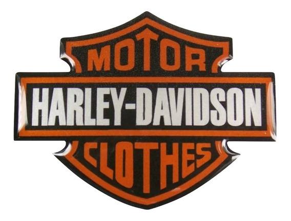 Emblema Adesivo Resinado Harley Davidson Motor Clothes Rs8