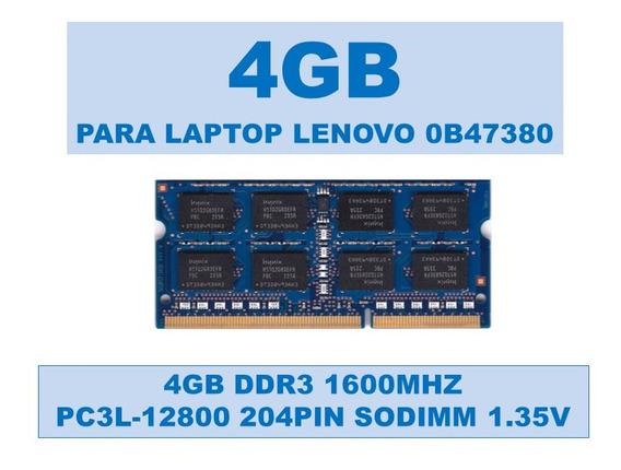 Memoria 0b47380 4gb Ddr3 1600mhz Portátiles Lenovo 1.35v