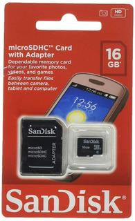 Cartão Memoria 16gb Micro Sd Sandisk Original Y@
