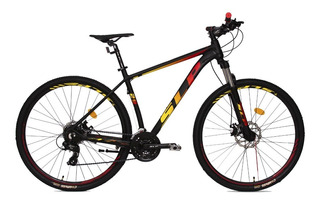 Bicicleta Mountain Bike Rodado 29 Slp 200 Cambios Shimano Frenos A Disco Llanta Doble Pared Suspension Varon Mujer Happy