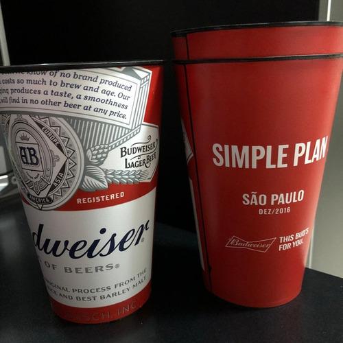 Copo Simple Plan Budweiser São Paulo Sp 2016 Citibank