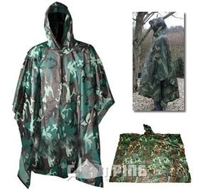Poncho Camuflado Capa Chuva Militar Caçador Exército Imperm