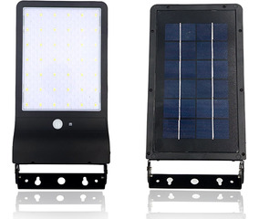 Luminária Refletor Solar Parede 100w 42l Potente Sensor Frio