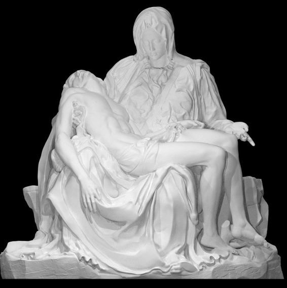 Réplica Pietá Michelangelo - 3d