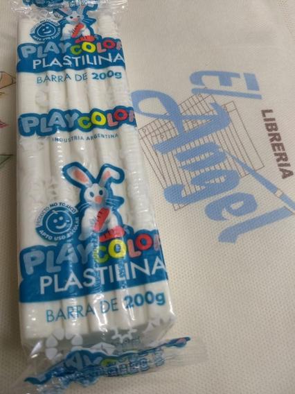 Plastilina Playcolor X 200 Grs Blanca / Ideal Jardin