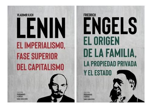 Imagen 1 de 3 de Pack 2 Libros - Lenin Engels - Imperialismo / Origen Familia