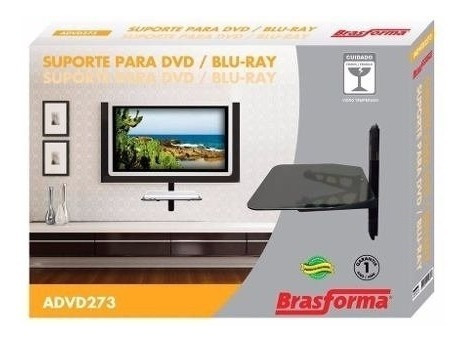Suporte Dvd Com Bandeja Brasforma Avd273