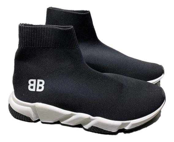 Tenis Balenciaga Botín Black Bb, Envío Gratis