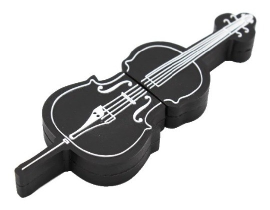 Pen Drive 4g Violino Music Moonlight Preto