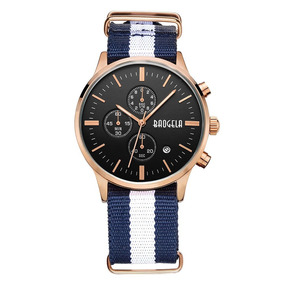 Baogela Fashion Men S Sports Chronograph Thin Con Correa De