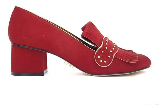 Sapato Oxford Loafer Salto Grosso Médio Carrano 147002