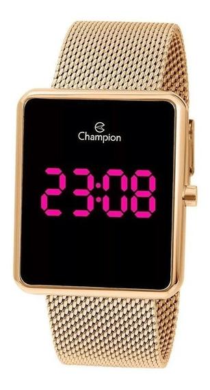 Relógio Champion Original Digital Unissex Dourado Ch40080h