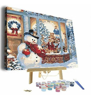 Paint By Numbers For Adults - Framed Canvas And Wooden Ease