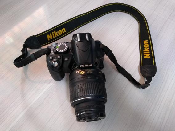 Câmera Nikon Dslr D3100 18-55mm Semi Nova