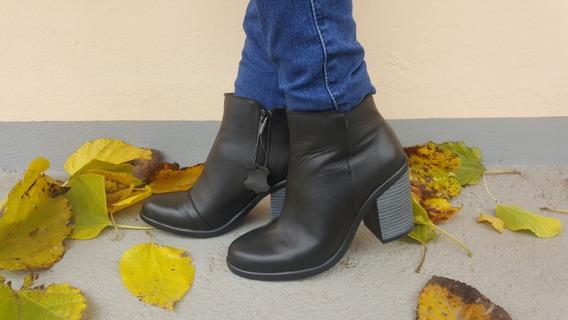 Botas Mujer Media Caña Vestir 100% Cuero H-59 Fashion Shoes