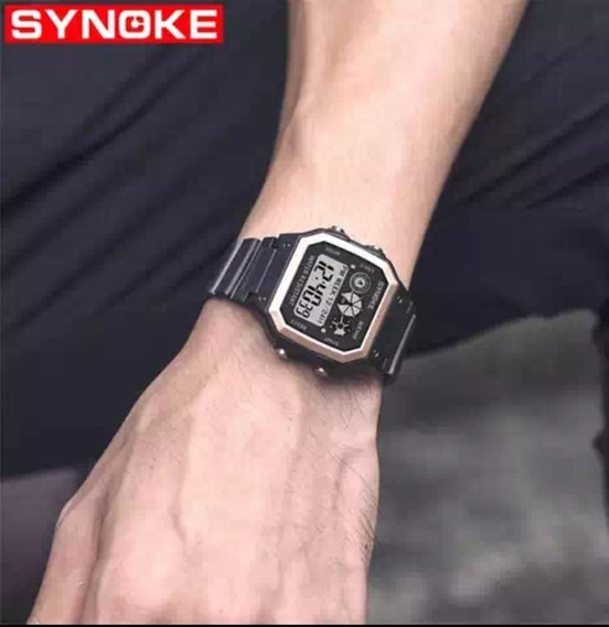 Relógio Digital Masculino/feminino Synoke Prova D´agua