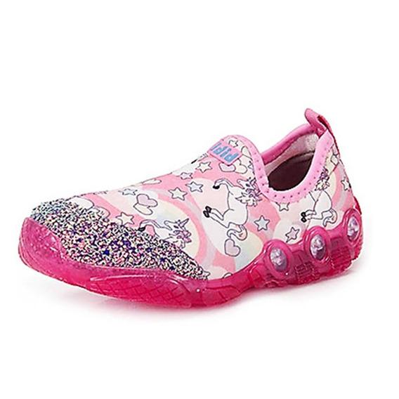 Tênis Menina Bibi Pink Unicórnio Glitter Frete Off 007770